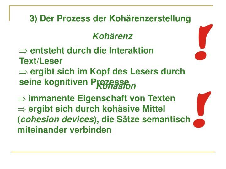 3) Der Prozess der Kohärenzerstellung