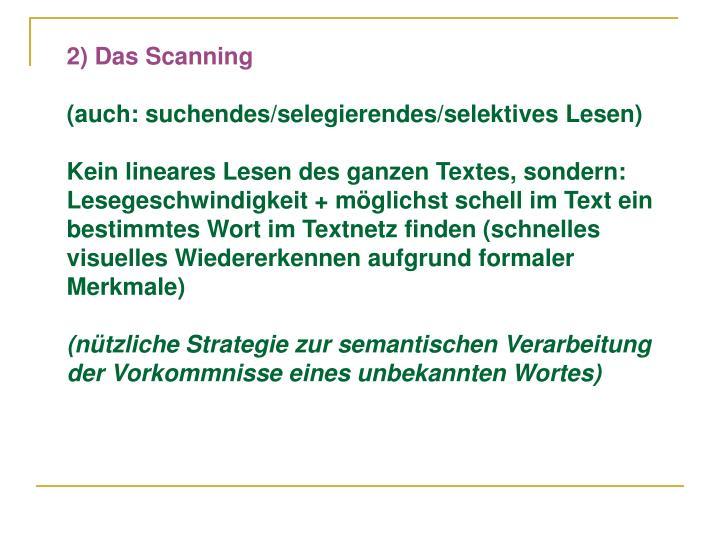 2) Das Scanning