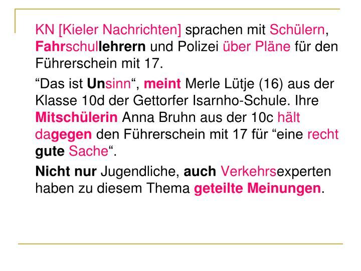 KN [Kieler Nachrichten]