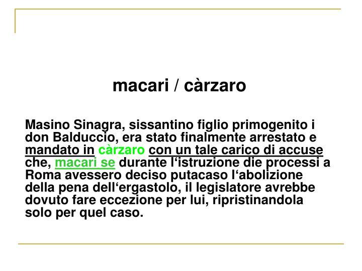 macari / c
