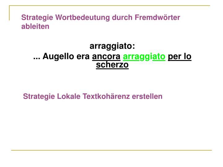 Strategie Wortbedeutung durch Fremdwörter ableiten