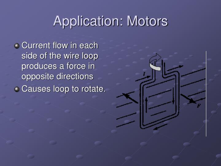 Application: Motors