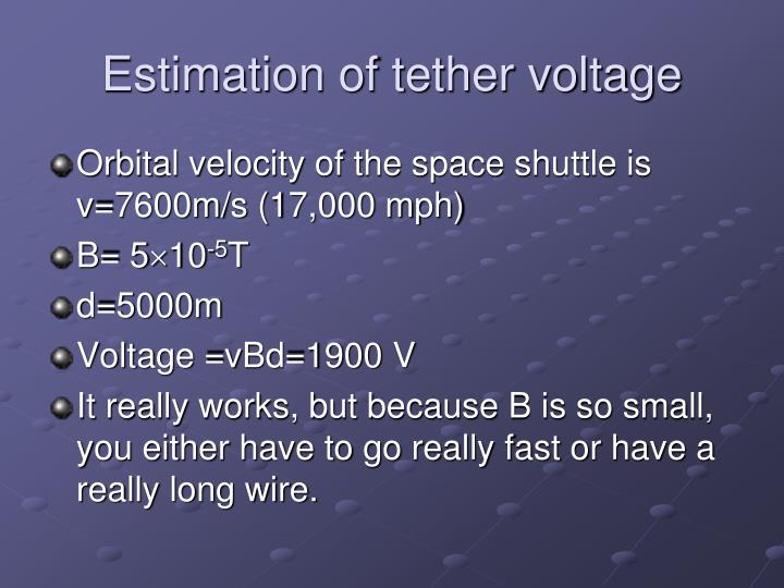 Estimation of tether voltage