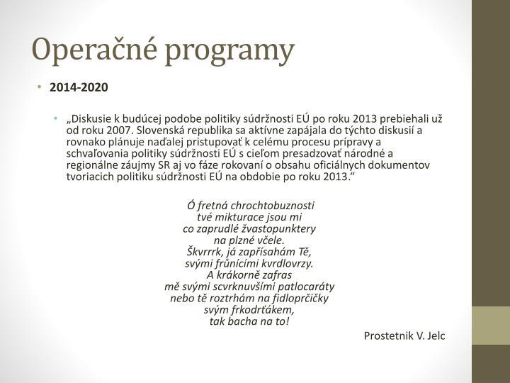 Operačné programy