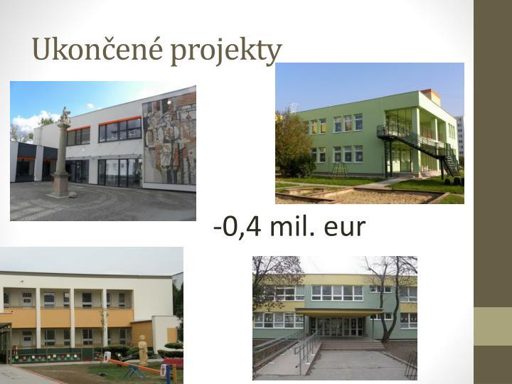Ukončené projekty