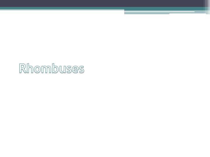 Rhombuses