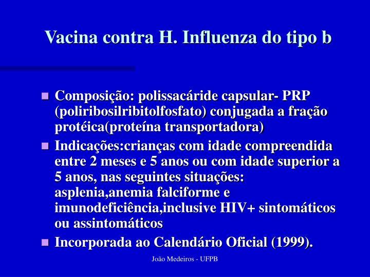 Vacina contra H. Influenza do tipo b