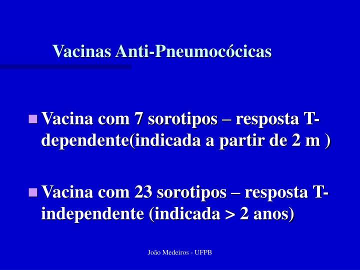 Vacinas Anti-Pneumocócicas