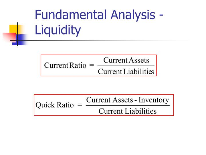 Fundamental Analysis - Liquidity