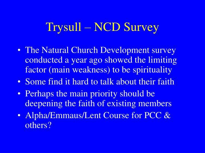 Trysull – NCD Survey