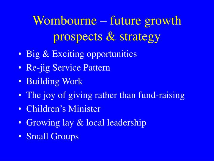 Wombourne – future growth prospects & strategy