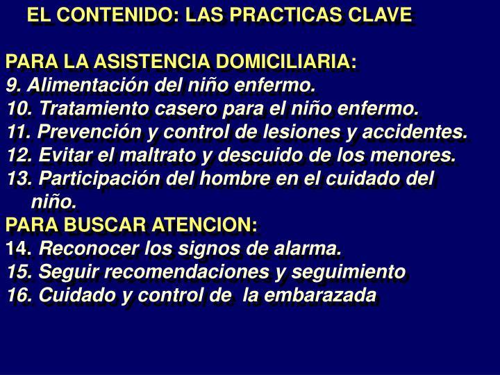 EL CONTENIDO: LAS PRACTICAS CLAVE