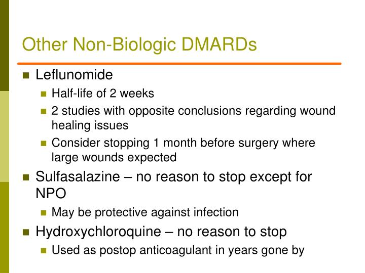 Other Non-Biologic DMARDs