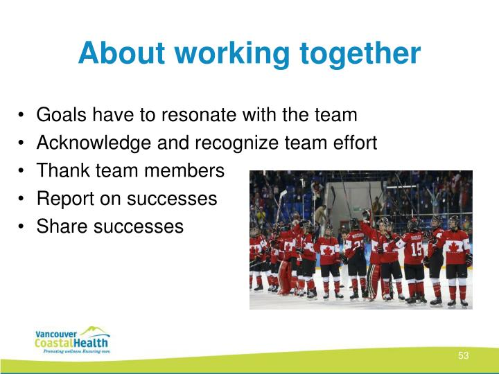About working together