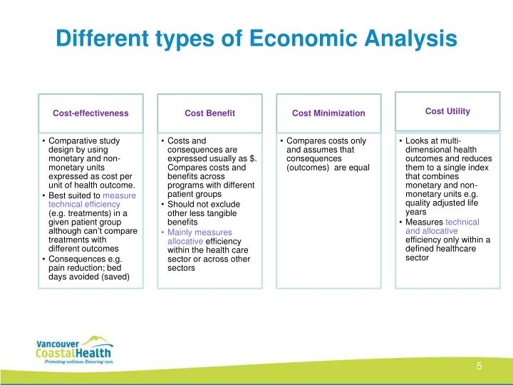 Different types of Economic Analysis