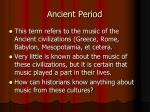 ancient period