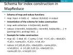 schema for index construction in mapreduce