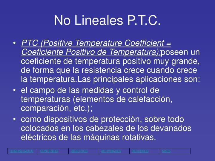 No Lineales P.T.C.