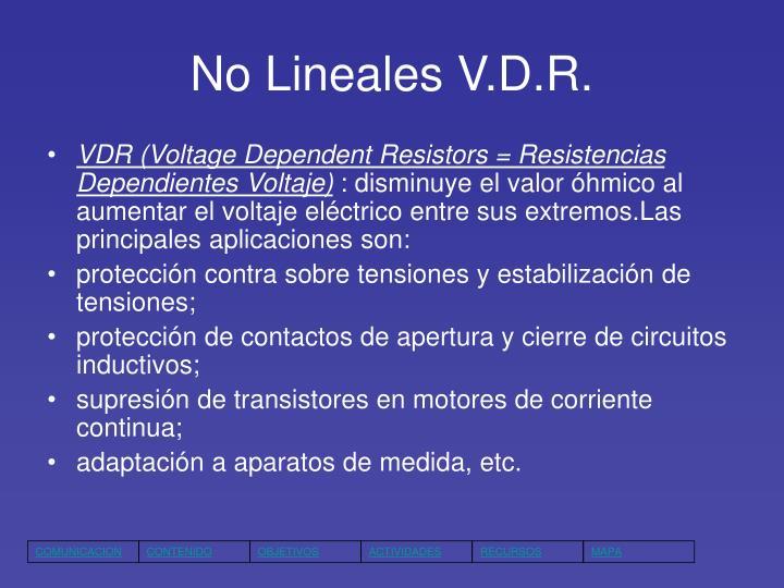 No Lineales V.D.R.