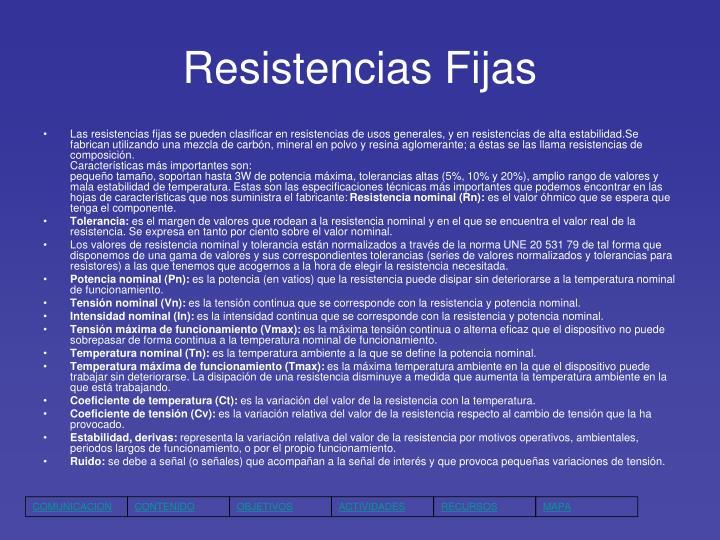 Resistencias Fijas
