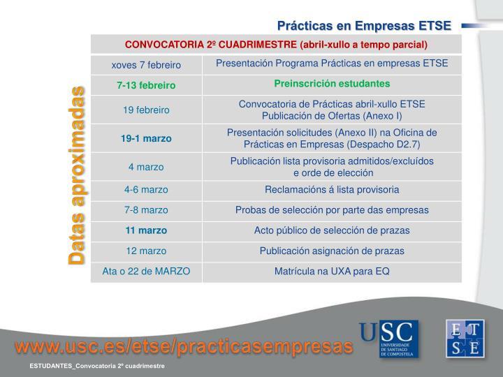 Prácticas en Empresas ETSE
