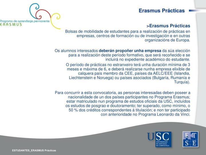Erasmus Prácticas