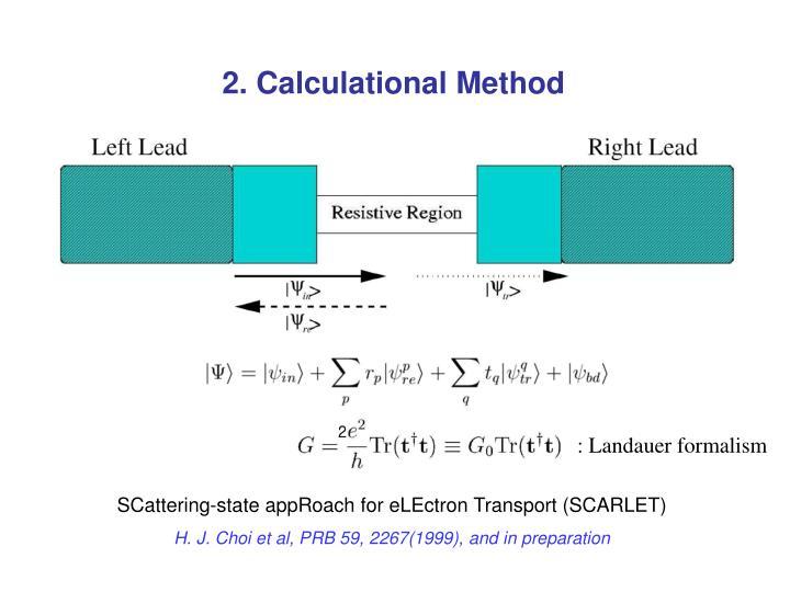 2. Calculational Method