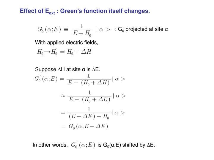 Effect of E
