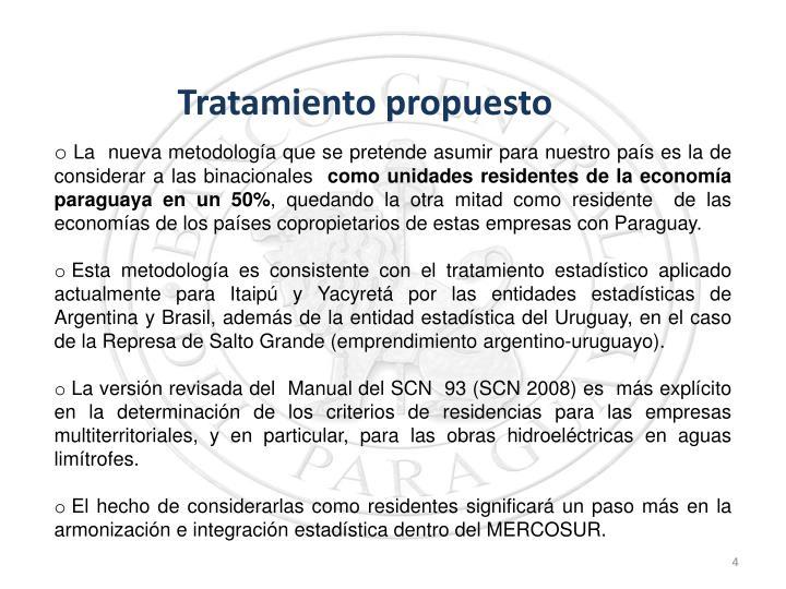 Tratamiento propuesto