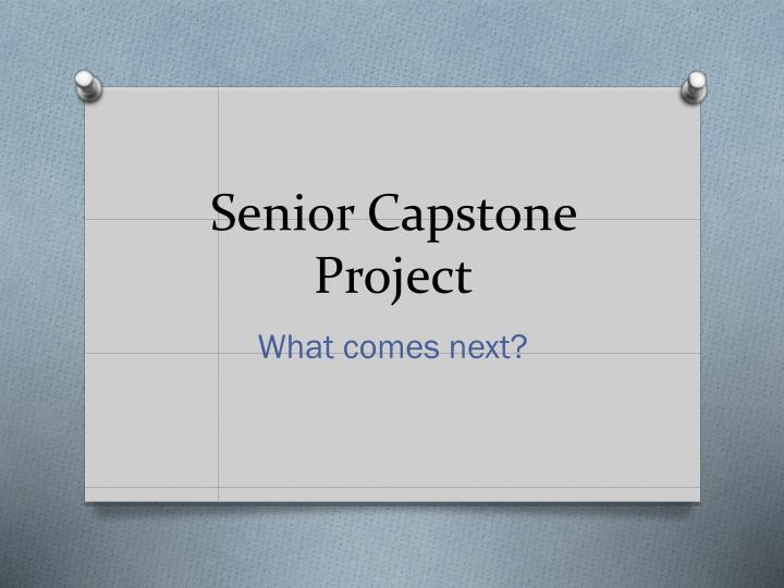 What Is A Capstone Project In Nursing