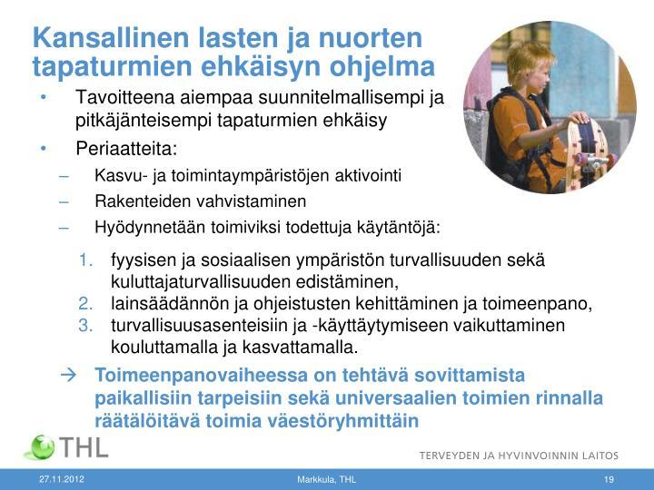 Kansallinen lasten ja nuorten tapaturmien ehkäisyn ohjelma