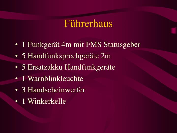 Führerhaus
