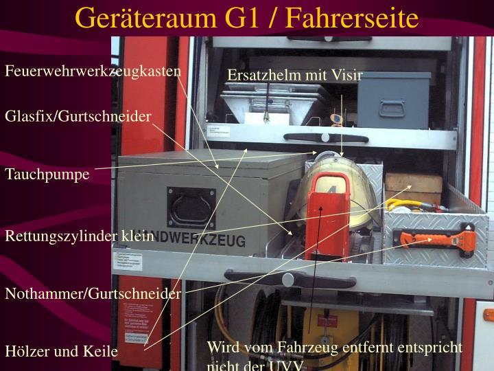 Geräteraum G1 / Fahrerseite