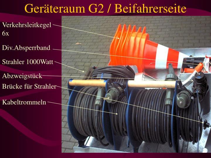 Geräteraum G2 / Beifahrerseite