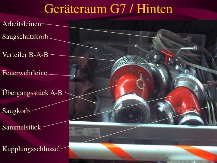 Geräteraum G7 / Hinten