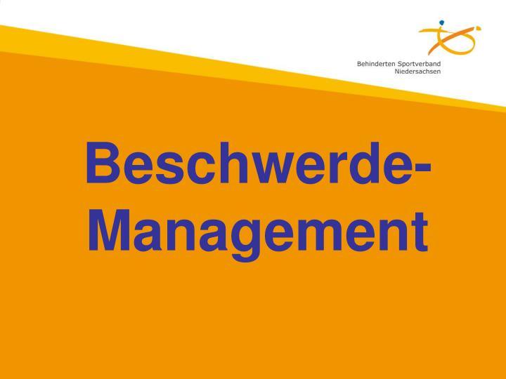Beschwerde-Management