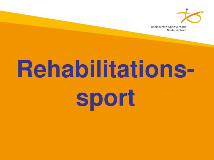 Rehabilitations-sport
