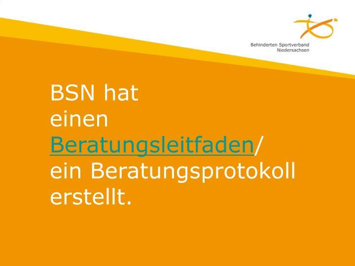 BSN hat