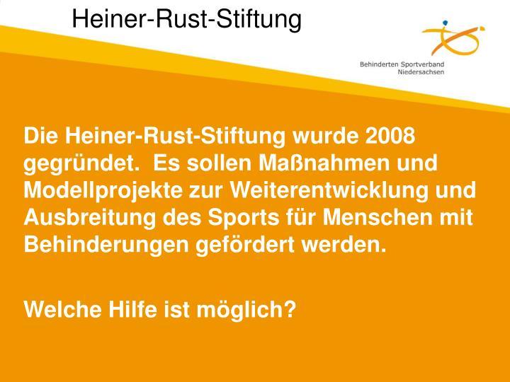 Die Heiner-Rust-Stiftung