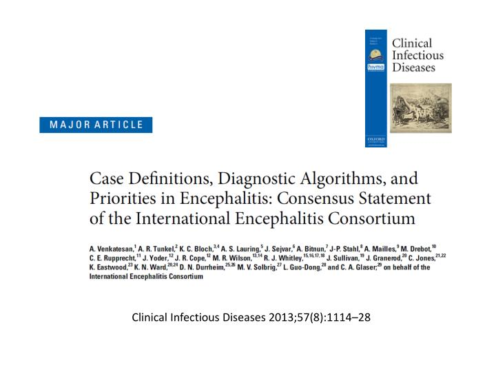 Clinical Infectious Diseases 2013;57(8):111428