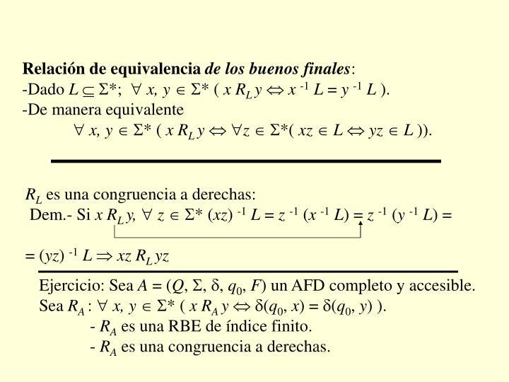 Relación de equivalencia