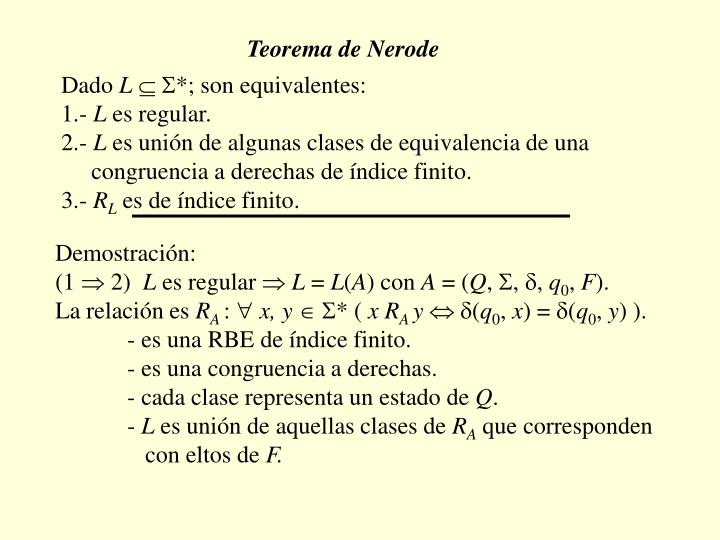 Teorema de Nerode