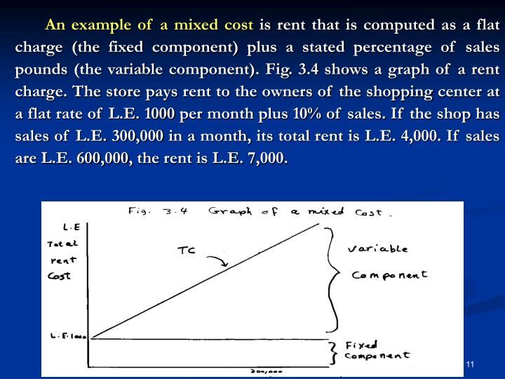 An example of a mixed cost