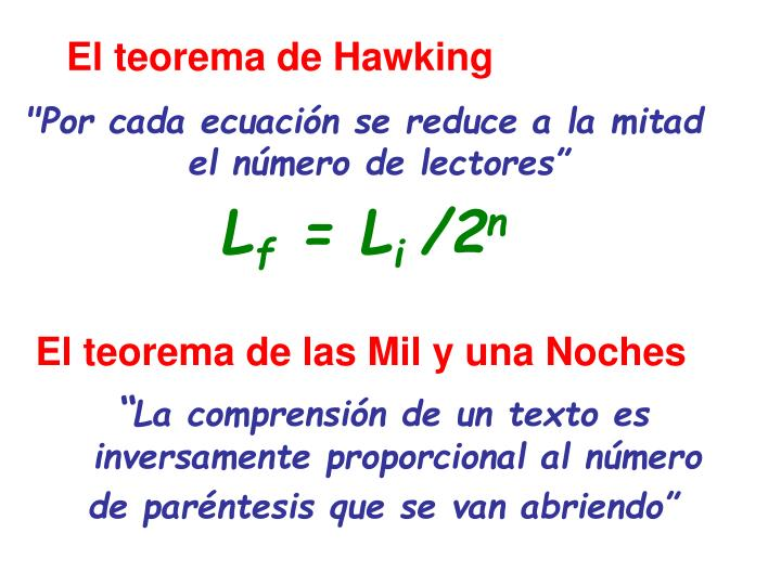 El teorema de Hawking