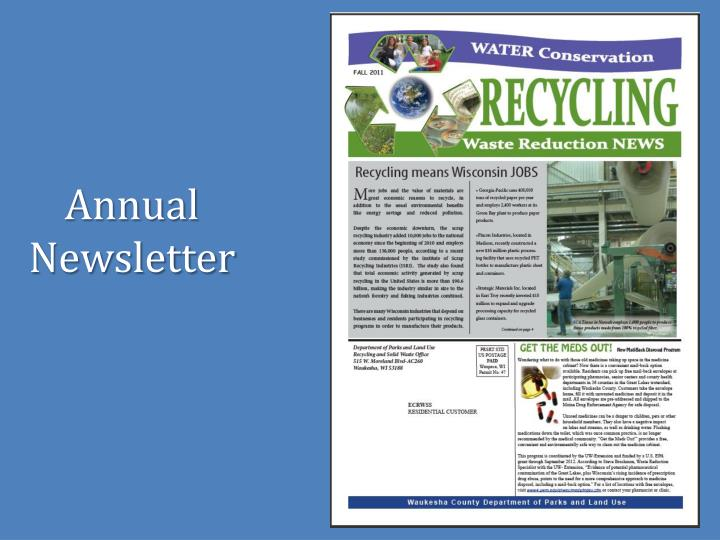 Annual Newsletter