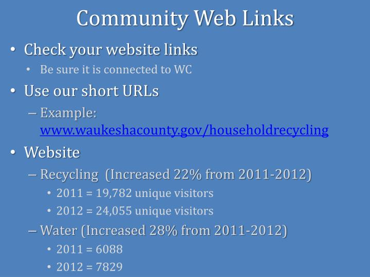 Community Web Links