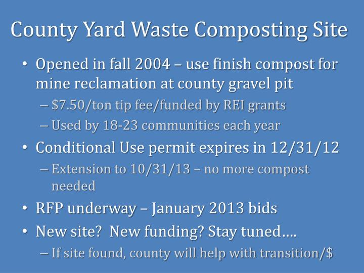 County Yard Waste Composting Site