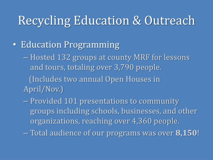 Recycling Education & Outreach