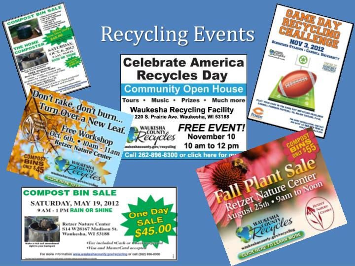 Recycling Events