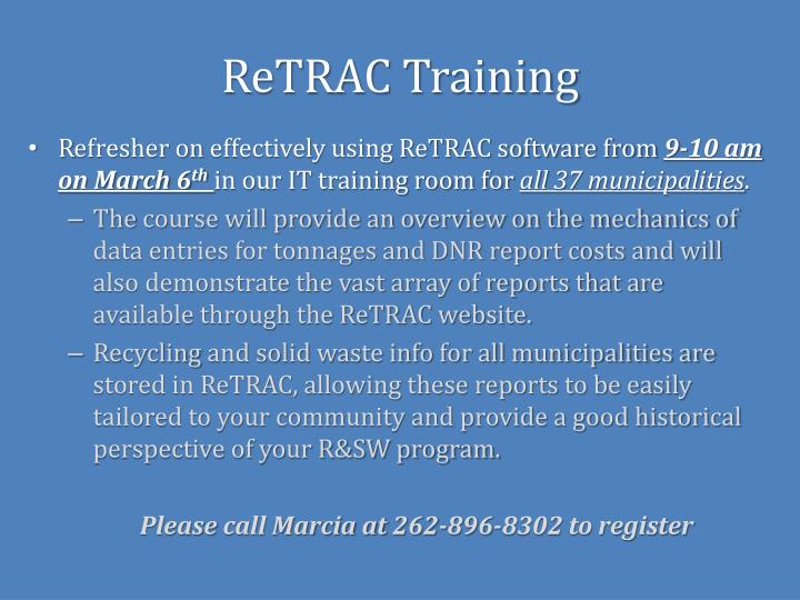 ReTRAC Training